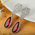 Marca de luxo Jóias Turco Marca CZ Diamante Esmeralda Brincos Para Acessórios Do Casamento Brilhante Rhinestone Orelhas Pendientes Vaz