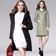 цена New Autumn winter 90% white duck Down coat Thin Long Parkas Women Ultra Light Down Jacket down coat female outerwear