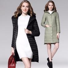 New Autumn winter 90% white duck Down coat Thin Long Parkas Women Ultra Light Down Jacket down coat female outerwear