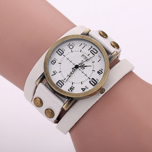 Vintage Leather Bracelet Women's Watches