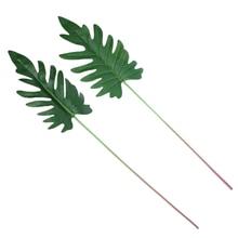 Искусственное растение искусственный украшение из листьев для сада офисные вечерние свадебные XB 66