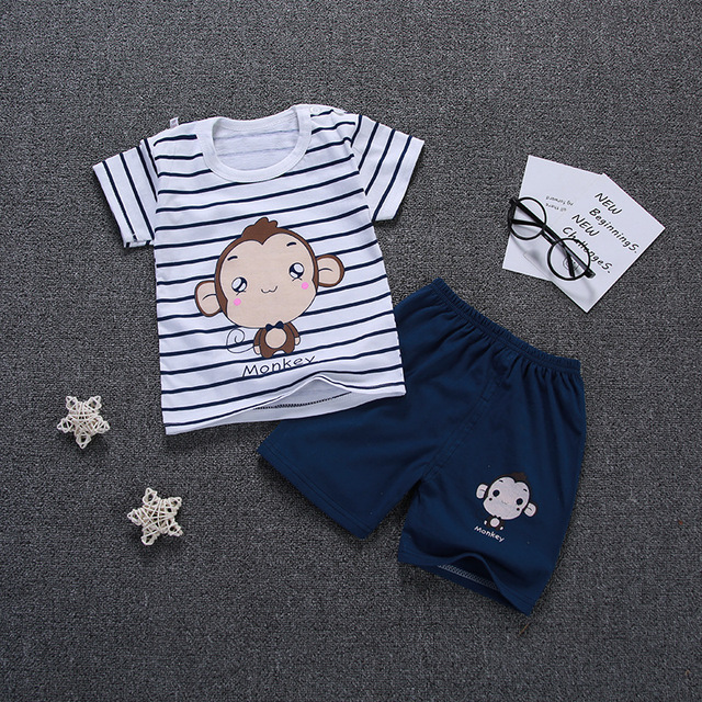 47d11542ac86 baby boys clothes New 2018 summer style Cotton Cartoon short sleeve infant  clothes 2pcs newborn baby clothing sets boy clothes