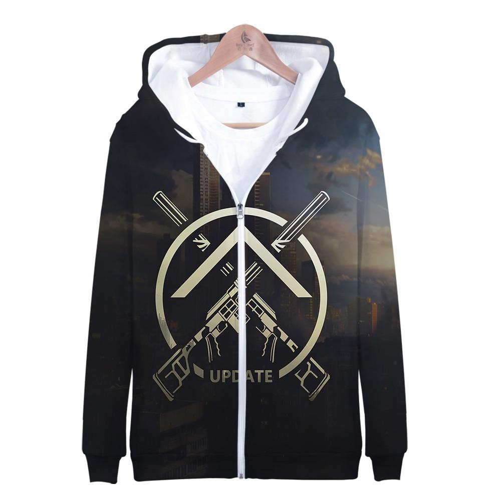 Escape from Tarkov Game Zipper Hoodies Men Fashion Long Sleeve 3d Hooded Sweatshirt 2019 Hot Sale Streetwear Clothing Plus Size 1
