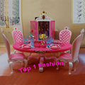New arrival Christmas birthday gift play house doll for children dinner table BJD furniture for barbie doll house