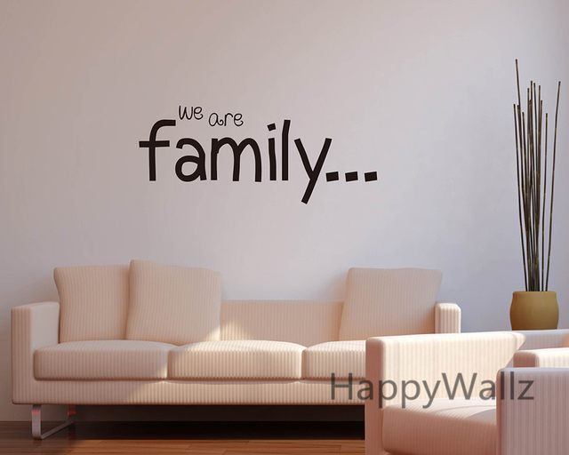 We are family home quote wall sticker