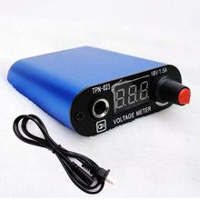 Pro Blue LED Screen Professional Mini Tattoo Machine Power Supply With Cord — TPN-023C