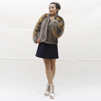 New Women Fashion Mink Fur Coat Warm Thick Winter Real Nature Fox Furs Outerwear O Neck Comfortable Genuine Luxery Fur Jackets
