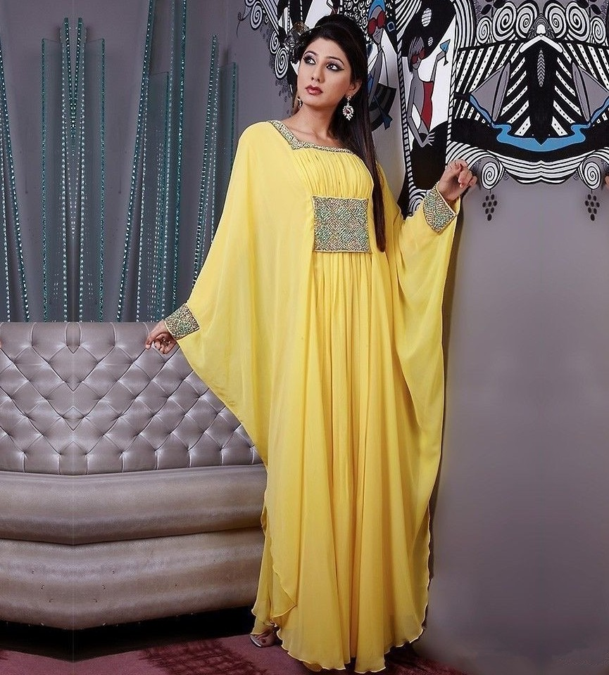 Dressy Yellow Dresses with Sleeves