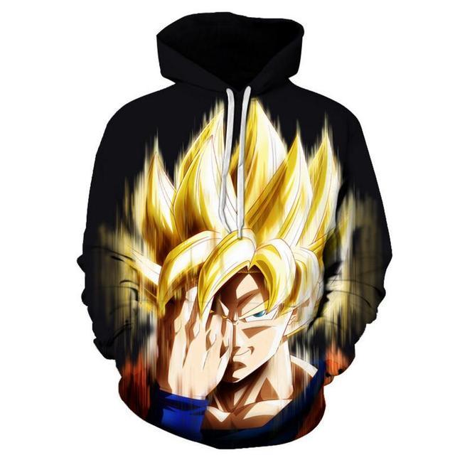 FILLMANNS Dragon Ball Z Hoodies Men 3D Printed Pullovers Sportswear Dragonball Super Saiyan Goku Black Zamasu Sweatshirts  2