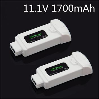 2 Pcs/Pack 11.1V 1700mAh 18.87Wh Lipo Battery for Yuneec Breeze Flying Camera Drone Extra Replacement Power
