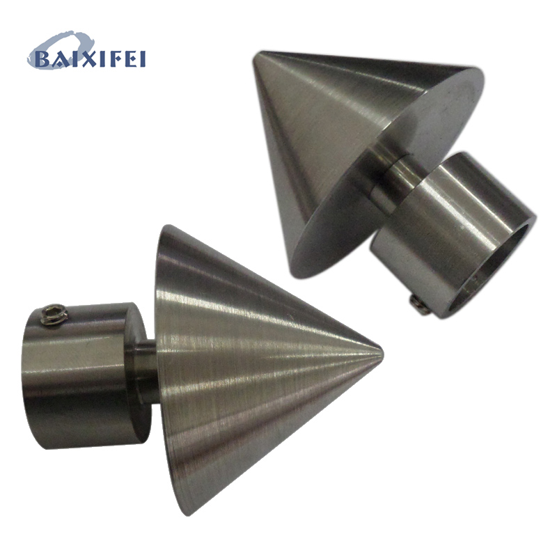 2 Pcs D16mm Curtain Rod Stainless Steel Decorative Head Spire , Curtain Accessories Finials for Window Decoration