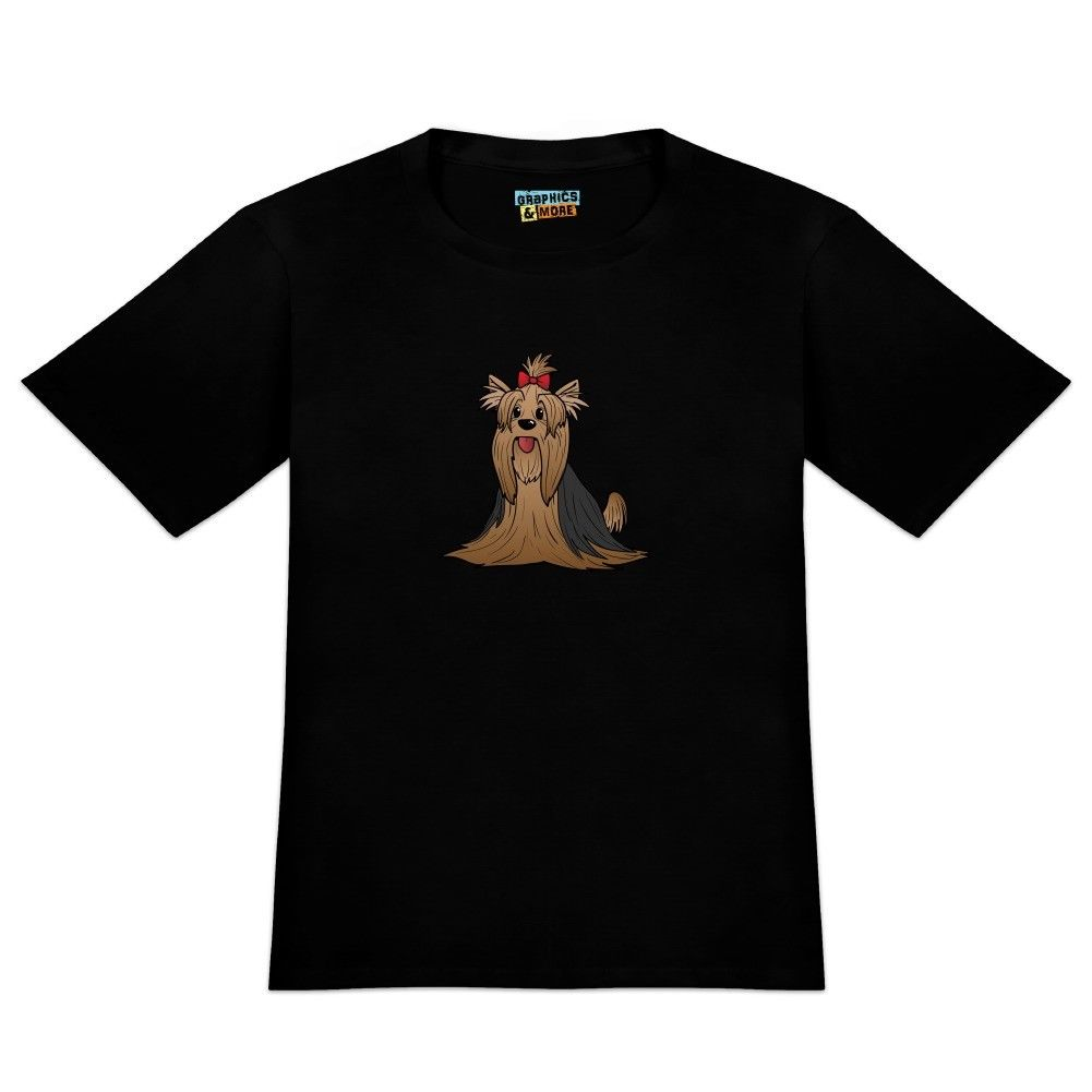 Yorkshire Terrier Yorkie with Bow Mens Novelty T-Shirt