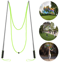 1 interesting popular soap bubble outdoor activity big bubble stick foldable giant bubble stick outdoor toy for children, boys a