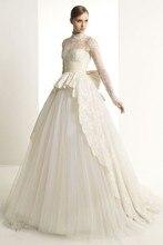 Long Sleeves Wedding Dresses High Collar Gowns Luxury Vestido de noiva Muslim dress