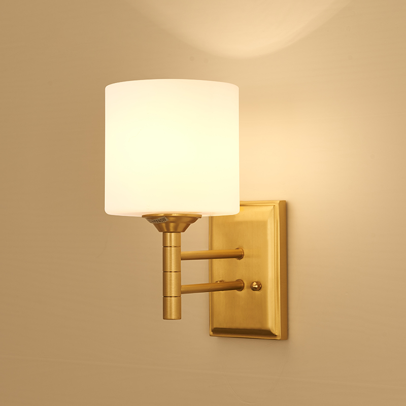 American Wall Lamp All Copper Bedroom Wall Light Modern Living Room Lamp Simple Study Single Head Light LED Creative LampsAmerican Wall Lamp All Copper Bedroom Wall Light Modern Living Room Lamp Simple Study Single Head Light LED Creative Lamps