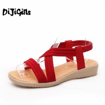 Women Shoes Sandals Comfort Sandals Summer Flip Flops Fashion High Quality Flat Sandals Gladiator Sandalias Mujer girl shoes in sri lanka