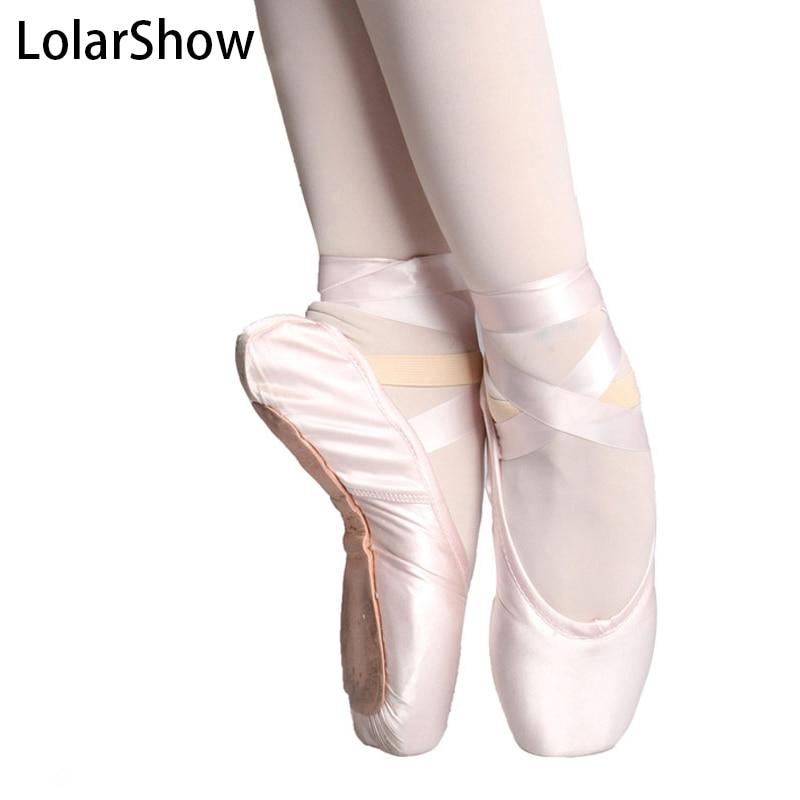 Women Girls Lady Ballet Pointe Dance Shoes Professional Ribbon Ties Satin Black Pink /Dance ShoesWomen Girls Lady Ballet Pointe Dance Shoes Professional Ribbon Ties Satin Black Pink /Dance Shoes