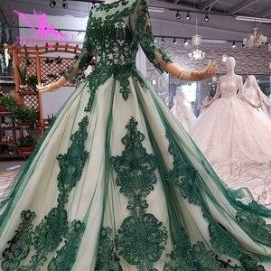 Image 1 - AIJINGYU فساتين فاخرة على الانترنت ثوب أبيض طويل لحفلات الزفاف عينة حقيقية الزفاف كوريا الدانتيل 2021 2020 فساتين الغجر فستان الزفاف