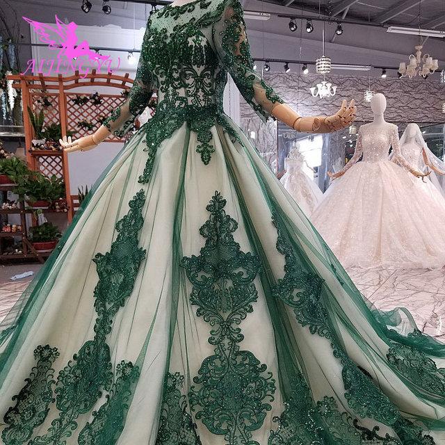 AIJINGYU فساتين فاخرة على الانترنت ثوب أبيض طويل لحفلات الزفاف عينة حقيقية الزفاف كوريا الدانتيل 2021 2020 فساتين الغجر فستان الزفاف