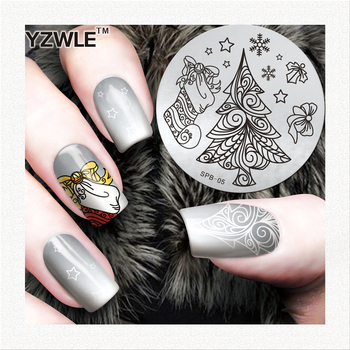 Flower Christmas Pattern Nail Art Stamping Image Plates Stainless Steel High Quality DIY Meaning Patterns Stamping Templat image