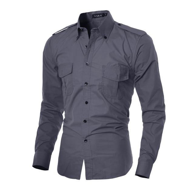 74b23d32f7 US $11.34 |Camicia uomo casual manica lunga slim fit social solido camicia  rossa divertente camicia nera designer abbigliamento uomo camisa masculina  ...