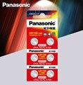 6 шт Panasonic Батарея сотовый 1,5 V AG10 LR1130 Щелочная батарейка-кнопка Батарея AG10 389 LR54 SR54 SR1130W 189 LR1130 аккумуляторы таблеточного типа
