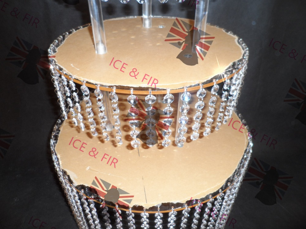 3tier Lot Crystal Chandelier Wedding Cake Stand Acrylic Crystals And Tear Drop Pendants Pastry Plate In Decorating Supplies From Home Garden On