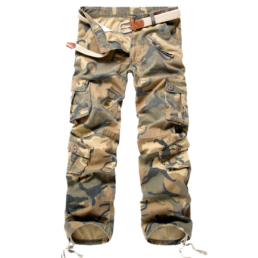 Mens Cargo Pants Pantalones Military Tactical Camouflage Trousers Work Overalls Army Sweatpants Pants For Men Plus Size