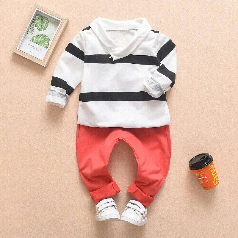 Toddler Kid Boy Cotton Long Sleeve T Shirt Long Pants Winter Clothes Outfit Set in Clothing Sets from Mother Kids