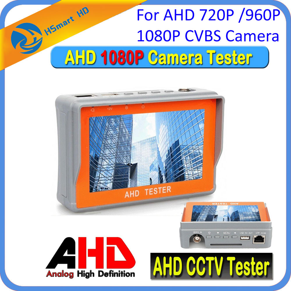 New Portable 4.3 LTPS LCD 1080P CCTV Camera Display AHD Monitor Tester 12V-Output For 720P / 960P / 2.0MP 1080P CVBS Camera ...
