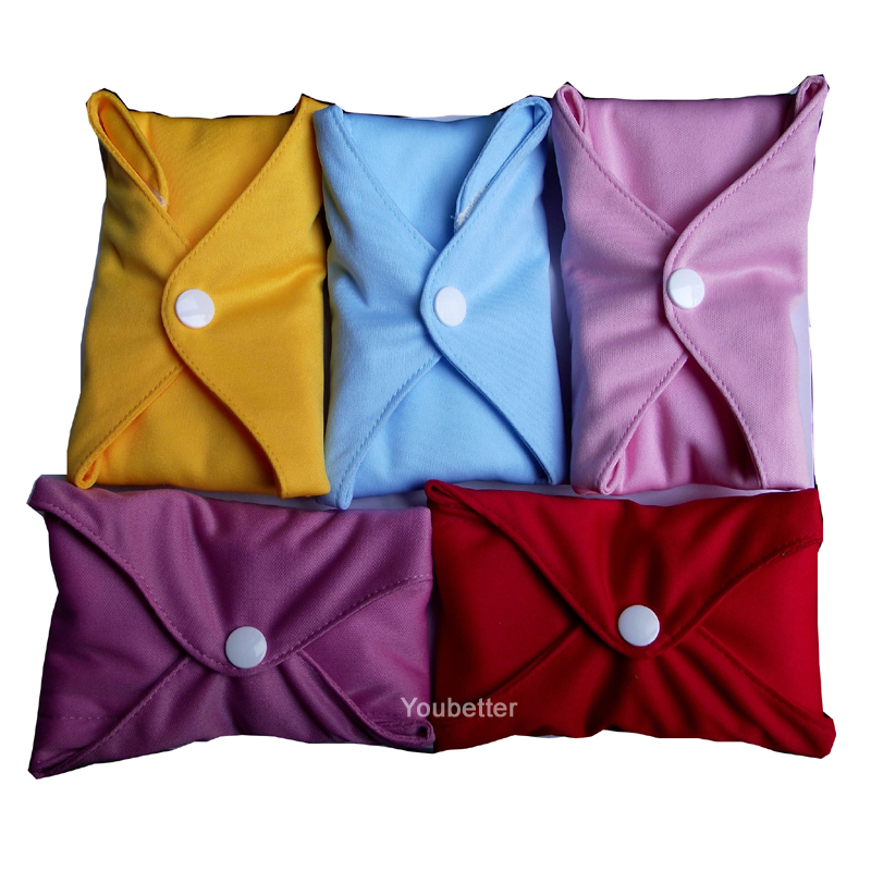 Wholesale Cloth Menstrual Pads 100% Bamboo Mama Cloth Washable Sanitary Feminine Pads