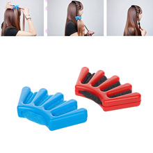 2 Colors Lady French Hair Braiding Tool Weave Sponge Plait hair Twist Hairstyling Braider DIY Accessories(China)