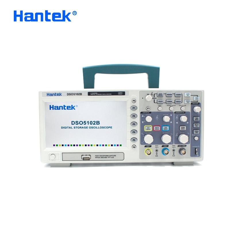 Hantek DSO5102B Digital Oscillsocope 2 Channels 100Mhz Bandwidth Osciloscopio Portatil LCD Handheld USB Oscilloscopes 1GSa s