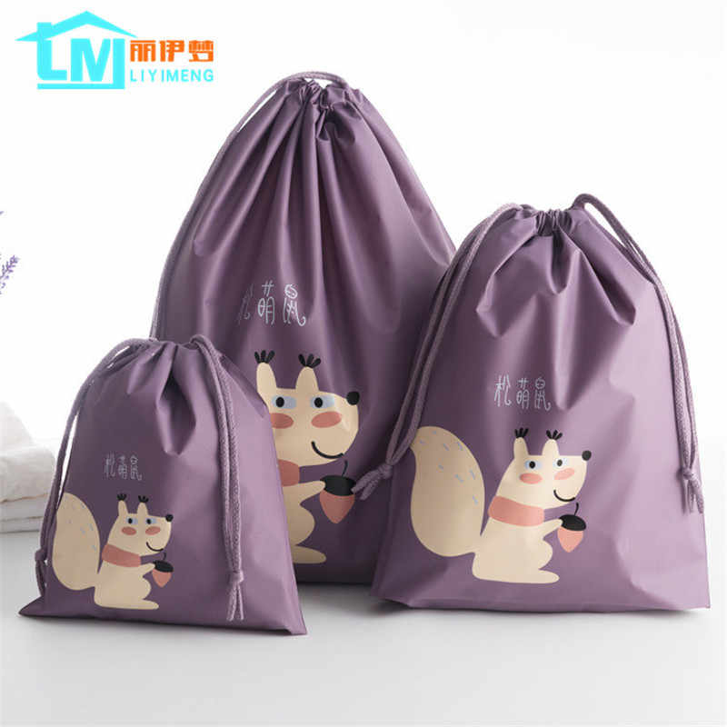 6475801c313c1 LIYIMENG Travel Storage Drawstring Waterproof Dry Toy Bag Shoe Laundry  Lingerie Makeup Container Cosmetics Underwear Organizer