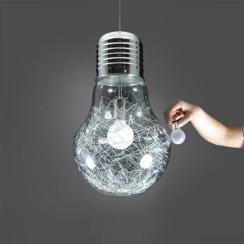 Élégant grande ampoule Modle salle à manger Roo lampe plafond luminaire suspension lampe lumière chambre à coucher lumière FG813