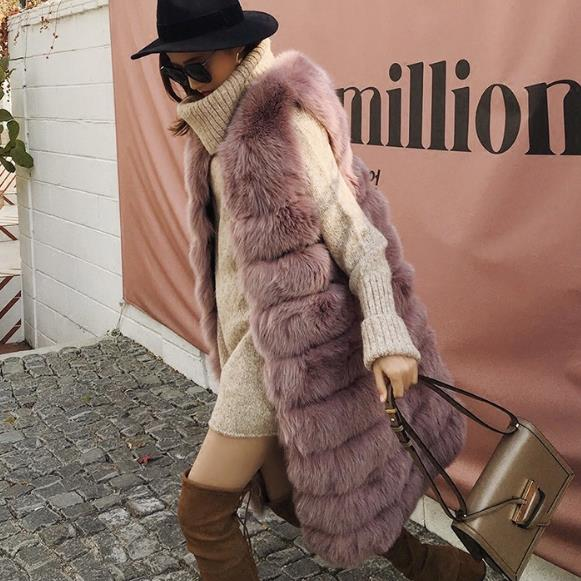Fluffy Gilet De Fausse 2018 Femmes Femme Taille D'hiver Plus Artificielle En Manteau Fourrure Vestes Z253 La Gilets Nouveau qBzaRSnB