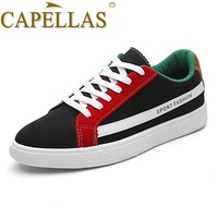 CAPELLAS New Men Canvas Shoes Breathable Men S Flats Shoes Comfortable High Quality Brand Mens Casual