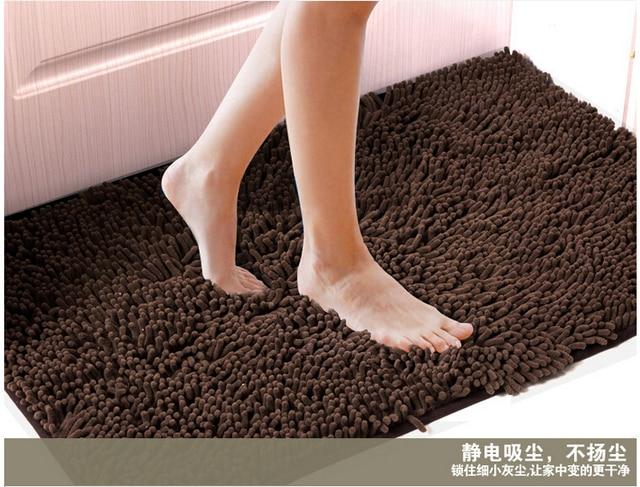 Shaggy Fluffy Bedroom Bathroom Rug Chenille Fabric Carpet Floor Bath Mat  Doormat 40cmX60cm Tapete 8color