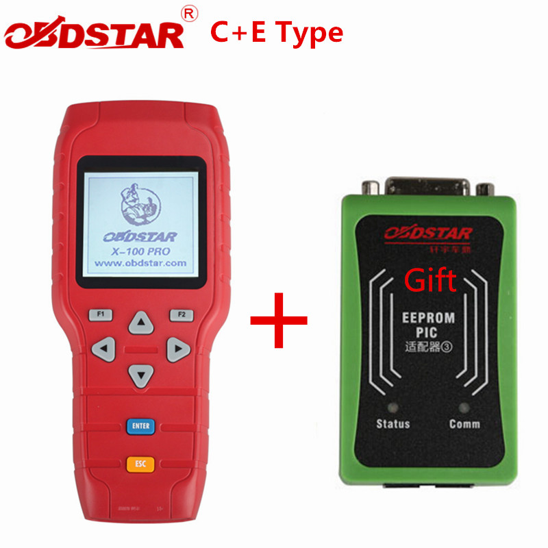OBDSTAR X-100 PRO Auto key programmer C E Type With EEPROM Adapter X100 PRO IMMO Key Matching Tool With OBD Software