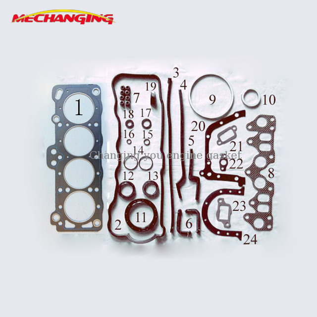US $39 9 5% OFF|For DAIHATSU CHARMANT 1 5 3AU Full Engine Spare Parts  Overhaul Package Cylinder Head Gasket 04111 15051 50125700 on  Aliexpress com |