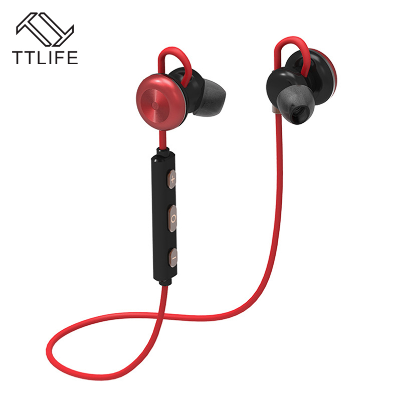 TTLIFE Wireless Bluetooth Headset Handfree In-Ear Hook Sport Binaural Running Magnetic Bluetooth 4.1 Headphone For Android Phone ttlife original bluetooth v4 1 earphone wireless in ear stereo headset waterproof apt x sport headphone with mic for ios android