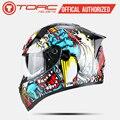Мотоциклетный шлем TORC  модные дизайнерские шлемы для мотогонок с полным лицом  сертифицированные Capacete Casco Casque Moto  Новое поступление