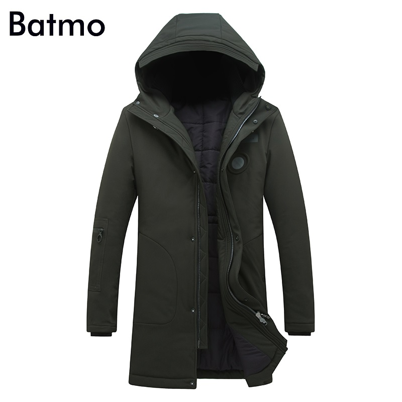 Batmo 2017 new arrival winter high quality white duck down hooded jacket men,winter mens coat ,plus-size M,L,XL,XXL,XXXL 8058