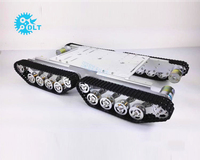TS500 Shock Absorber Tanks 4WD Tracked Tank Cars Chassis Off Road Smart Robot Car With 37