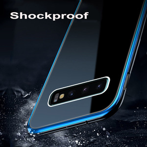 Image 5 - Leanonus 9H Tempered Glass Cover Case for Samsung Galaxy S10/S10 Plus/S9/S9 Plus/Note 9 Coque Hard Metal Bumper Phone Case