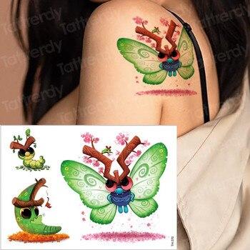 kids tattoo temporary waterproof tattoos children stickers body art horse unicorn animals tatoo water color face hand tattoo kid 5