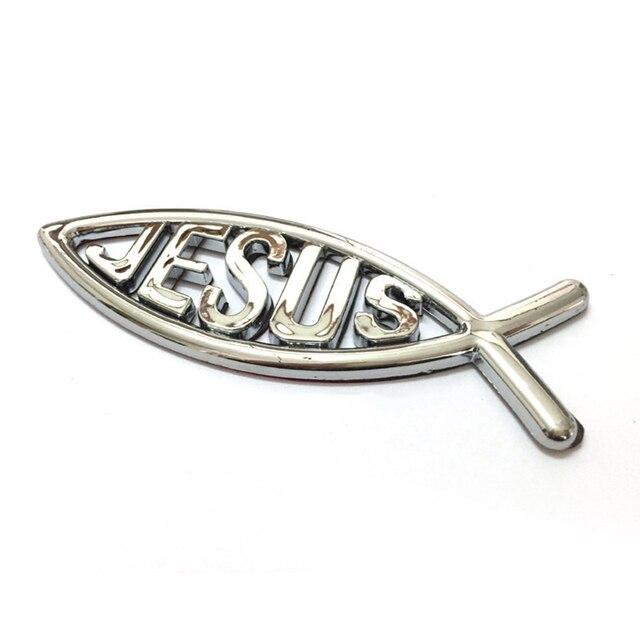 Hot 3d Car Chrome Decal Emblem Sticker Religious God Jesus Christian