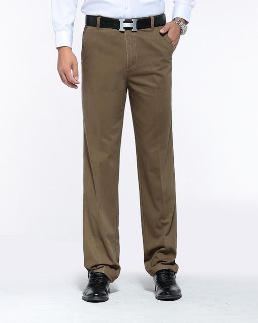 2017 Moda de Invierno Nueva Llegada hombres Relaxed Pantalones Ocasionales Rectos de Mediana Altura Pantalones Ejército Ropa Suelta Grandes Zize 13M0556
