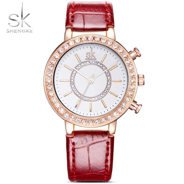 665f339d2cc SK Fully-jóias de Ouro Relógios De Pulso Da Forma Das Mulheres Top de Luxo