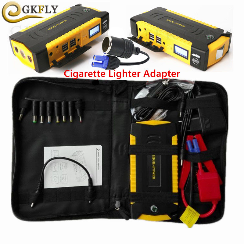 Car Jump Starter 16000mAh 600A Portable Power Bank Starting Device Booster 12V Emergency Car Charger For